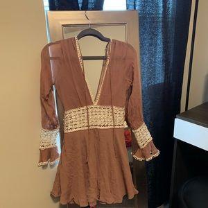 For love and lemons Celine Dress in Blush